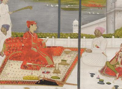 Muhammad Shah with Mahmud Gawan
