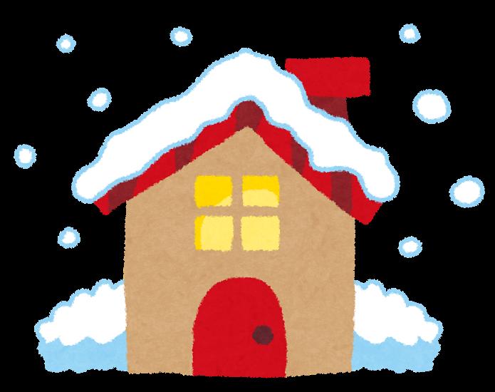 雪のイラスト屋根に積もる雪 かわいいフリー素材集 いらすとや