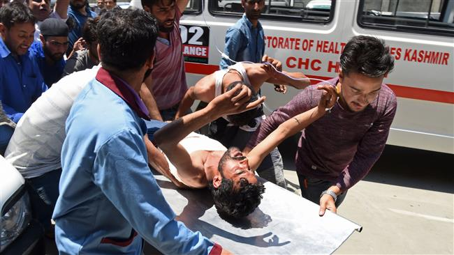 Indian troops kill 3 militants in Kashmir; 35 protesters wounded