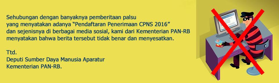 Pengumuman Jadwal Penerimaan Pendaftaran CPNS 2016 Juli 2016 oleh KEMEMPAN