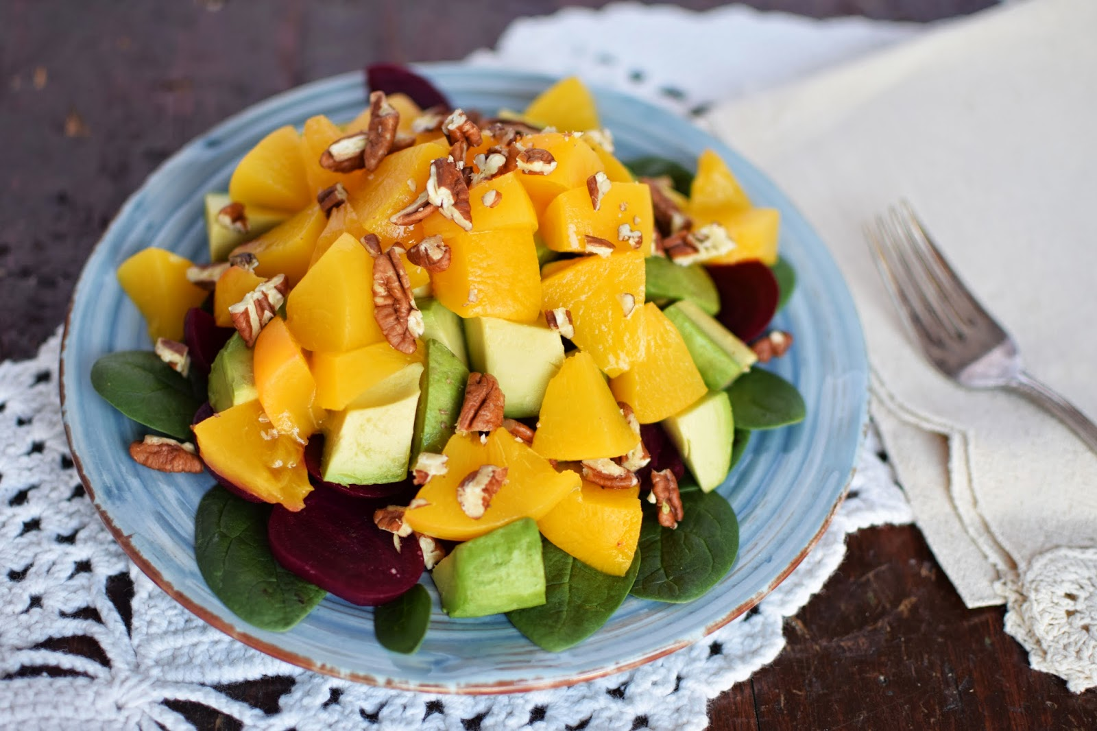 Sunny Peach Salad with California Cling Peaches