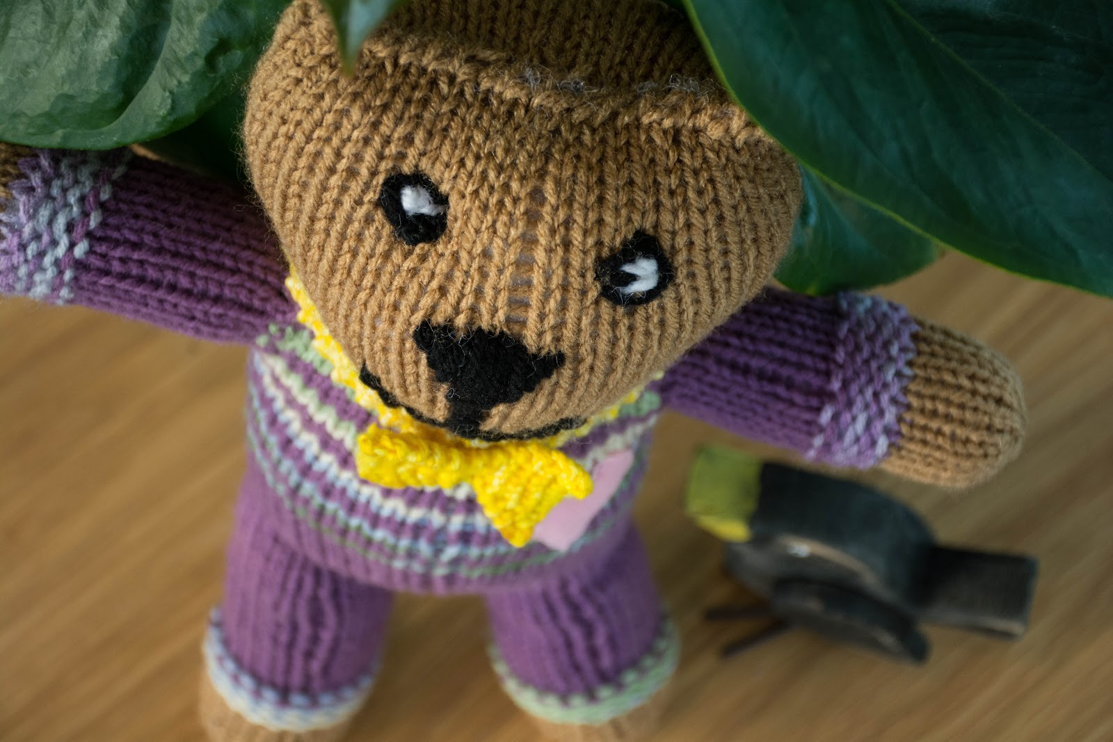 The Knitting Blog by Mr. Puffy the Dog: Mother Bear Project and Knit Bow Tie ...