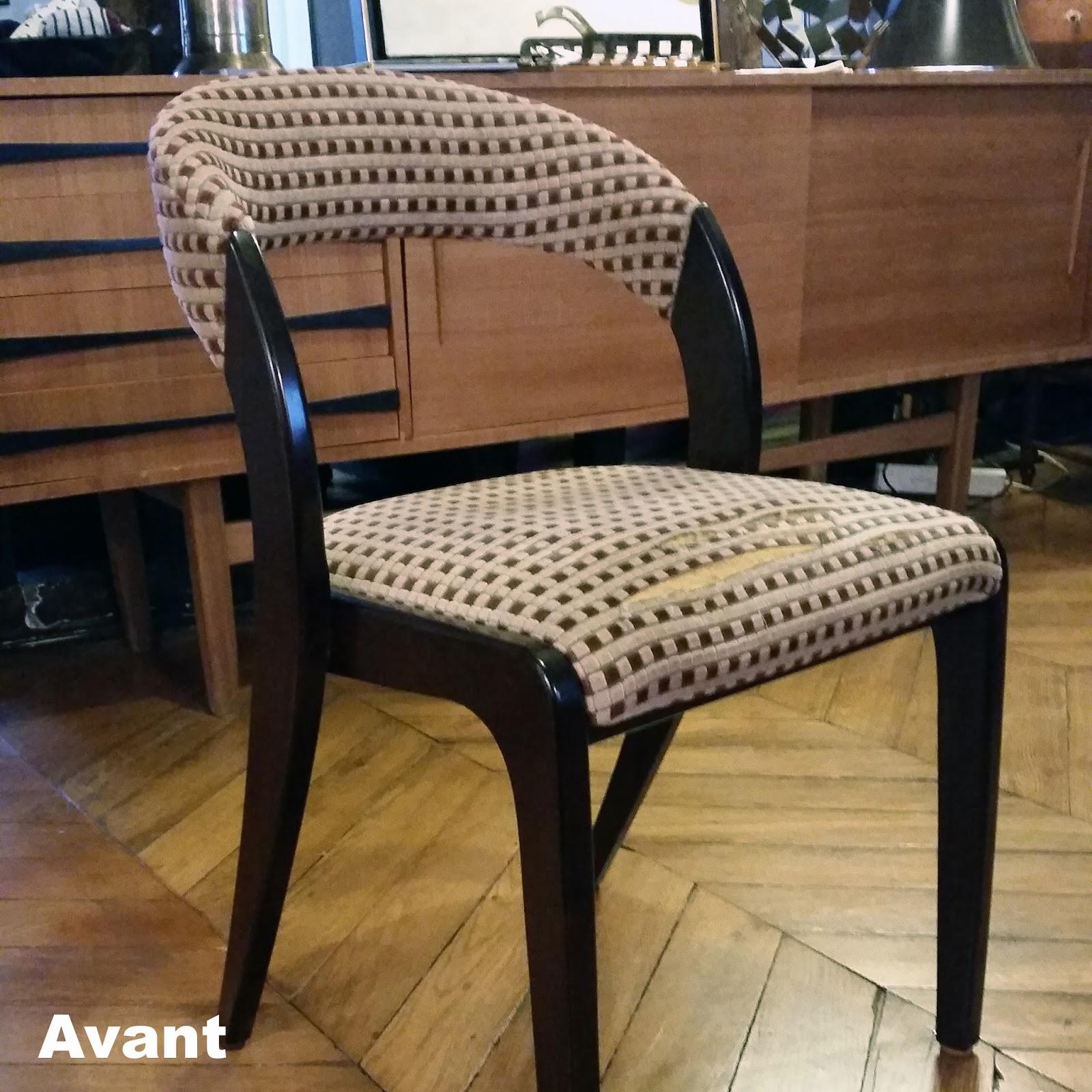avant apr s chaise vintage atelier velvet artisan tapissier paris 10e. Black Bedroom Furniture Sets. Home Design Ideas