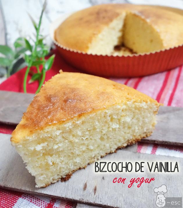 Pastel o bizcocho de vainilla fácil con yogur