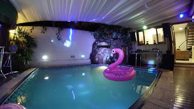 Decoração da pool party das Bailarinas do Faustão