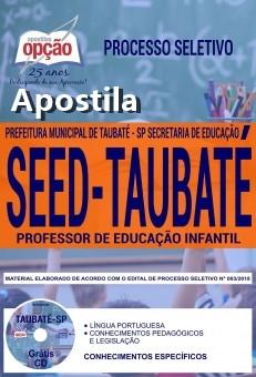 Apostila SEED de Taubaté SP Professor de Educação Infantil 2018