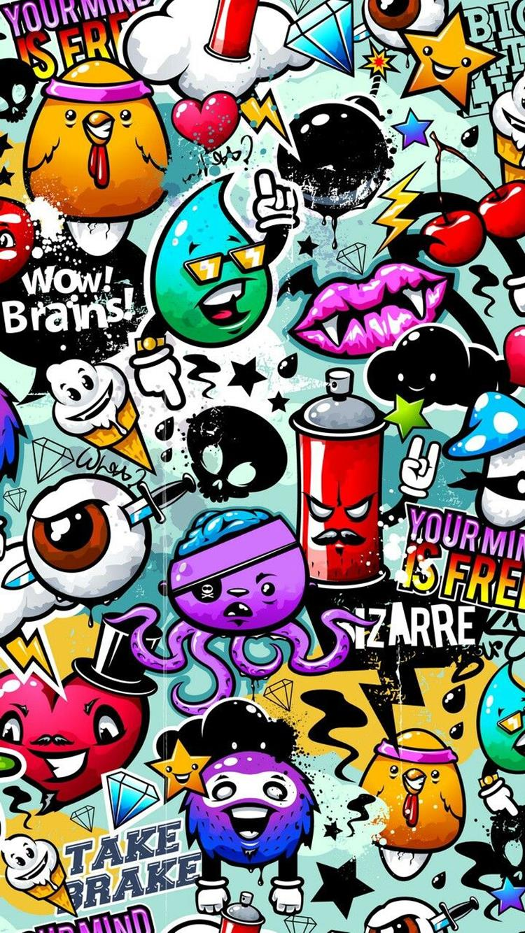 iPhone Wallpaper Graffiti street art, graffiti backgrounds for iPhone HD