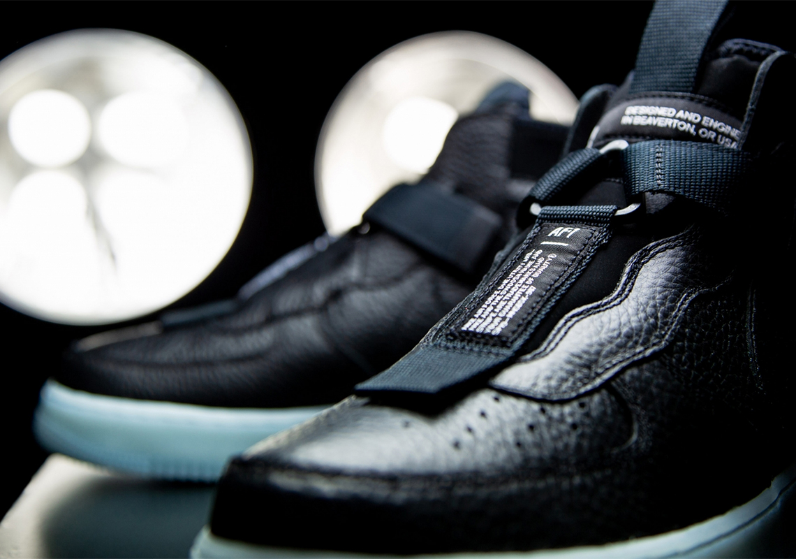 Swag Craze: First Look: Nike Air Force 1 Mid Utility Black Blue