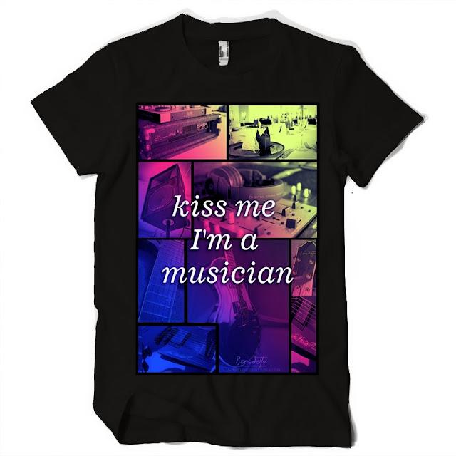 kiss me music tshirt