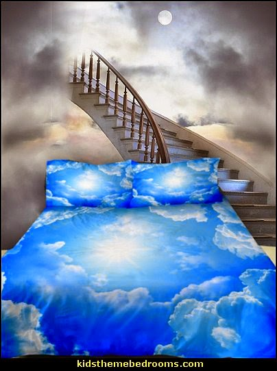 mythology theme bedrooms - greek theme room - roman theme rooms - angelic heavenly realm theme decorating ideas - Greek Mythology Decorations - heavenly wall murals - angel wings decor - angel theme bedrooms