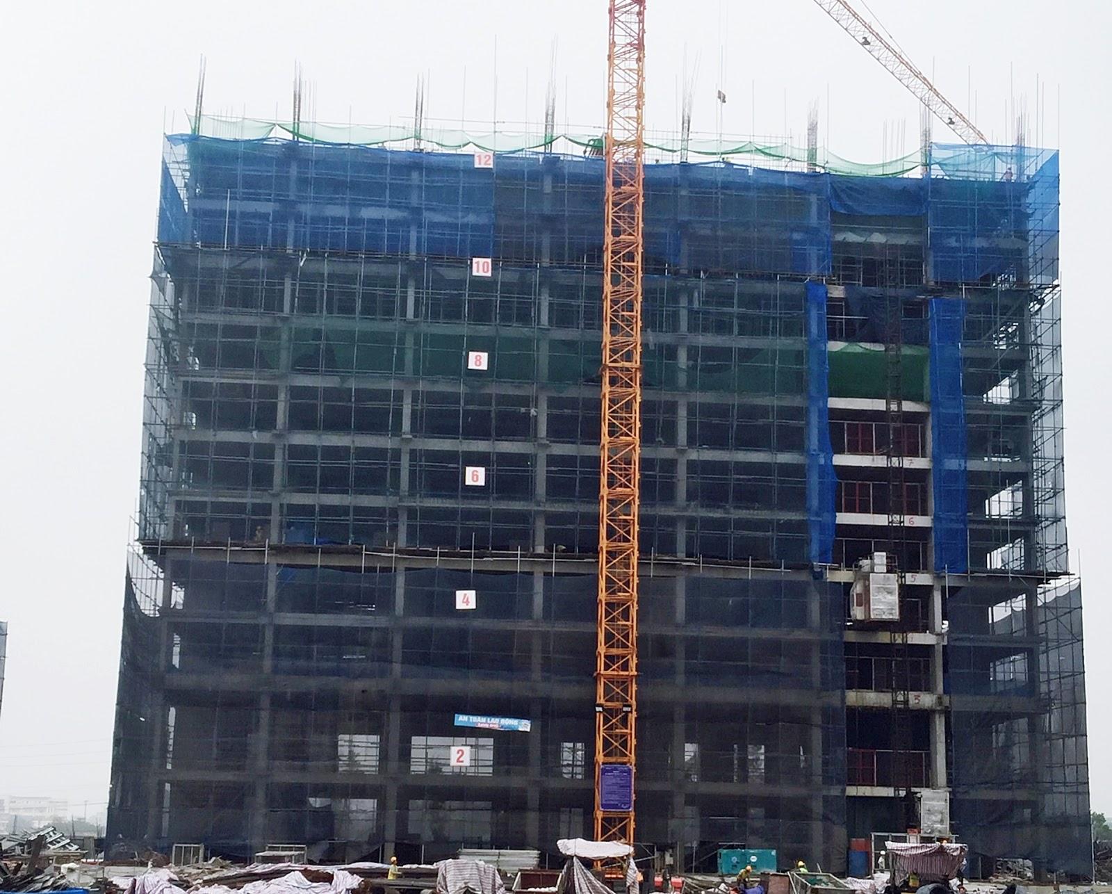 Tòa CT1A đã xây dựng tới tầng 14
