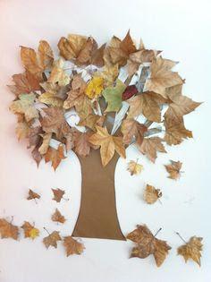 ideas hojas de otoño de pinteres