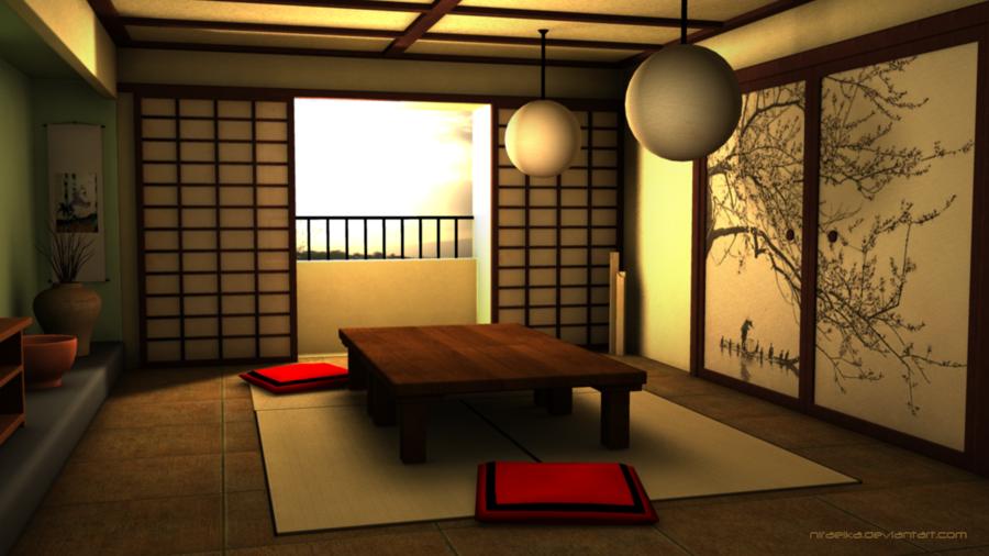 20 model desain ruang makan ala jepang - Japanese style living room ...