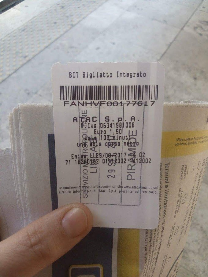 Come fare quando l'obliteratrice non vidima Il biglietto?