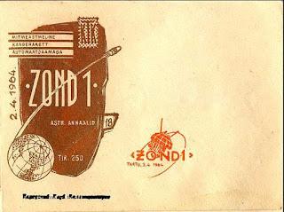 Cartolina celebrativa del lancio Zond 1