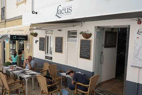 Restaurante Lacus, Lagos, Portugal.