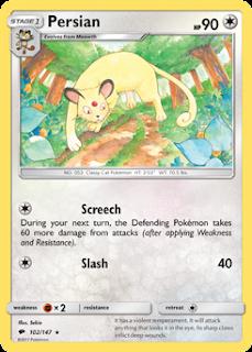 Persian Burning Shadows Pokemon Card