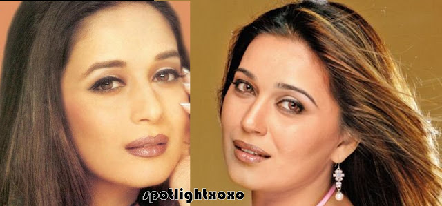 maduri dixit look a like, neki aneja walia and madhuri dixit, laila raichand, tv stars look alike bollywood celebrity, tv actress looks like madhuri dixit