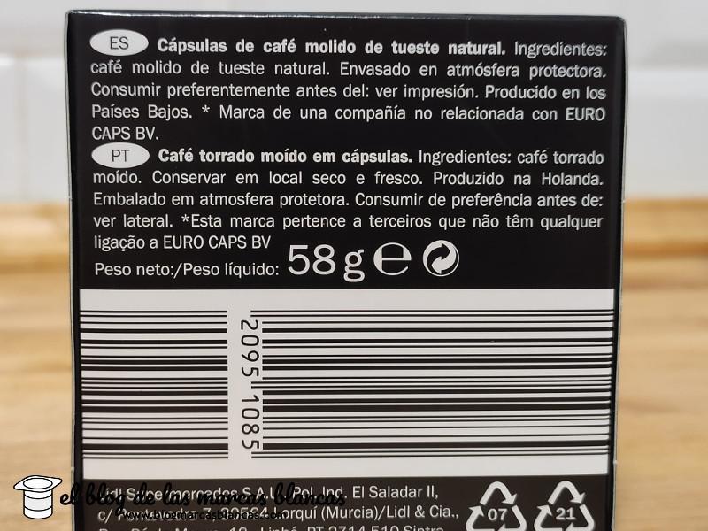 Cápsulas de café BELLAROM de Lidl compatibles con Nespresso - variedad Módena lungo - El Blog de las Marcas Blancas