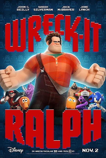 Wreck-It Ralph 2012 Disney movie poster John C. Reilly Sarah Silverman Jack McBrayer