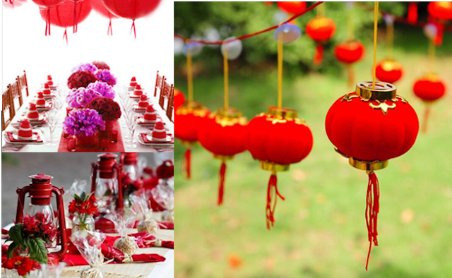 Red lantern wedding decorating accessories