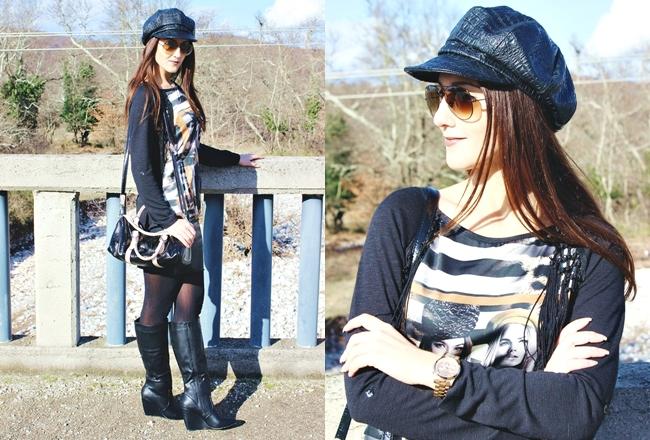 Kako nositi stvari od vestacke koze,cool outfit ideje