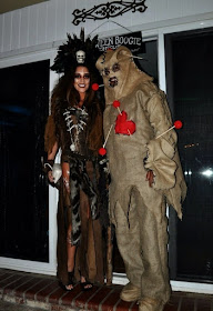 Witch Doctor and Voodoo Doll Couples Costume