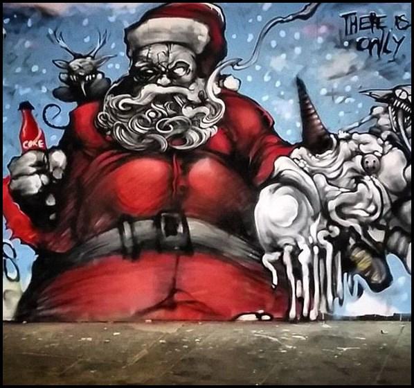 Graffiti Weihnachten, Graffiti Weihnachtsmann