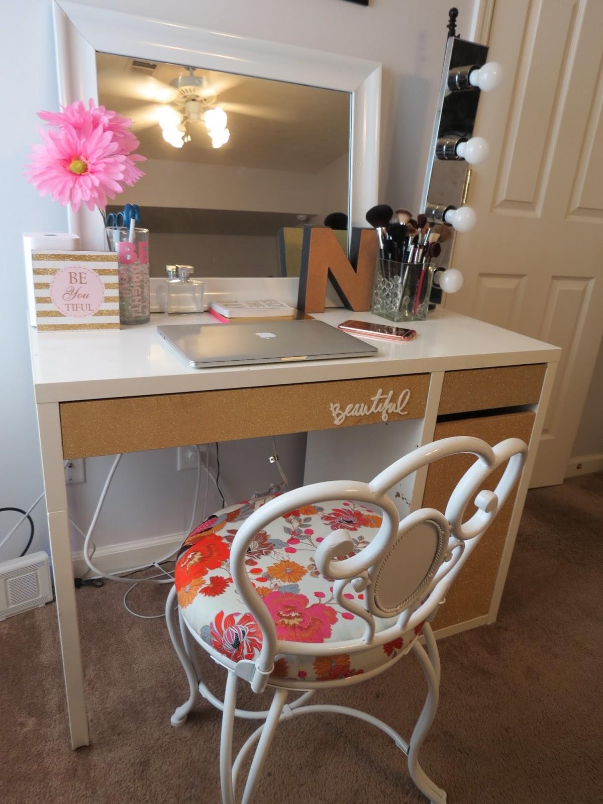 My 20 Ikea Desk Makeup Vanity Diy Projects By Nina