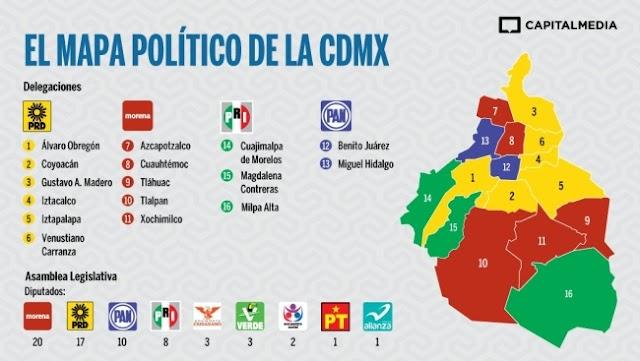 Los partidos en la CDMX recibirán 435 mdp de dinero público en 2020