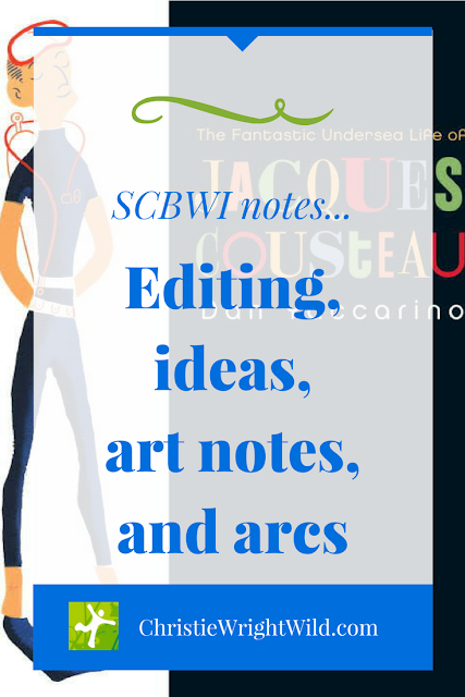 SCBWI notes: editing, ideas, art notes, and arcs || how to write | writing tips | writing for children