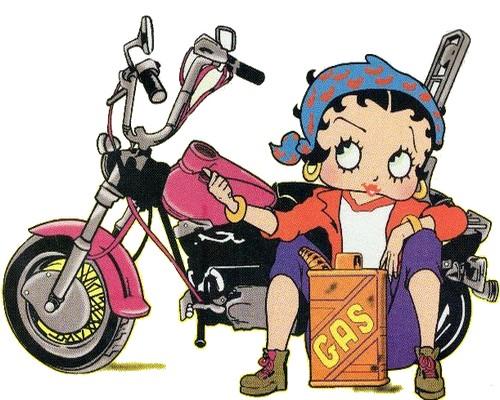 Betty Boop en moto