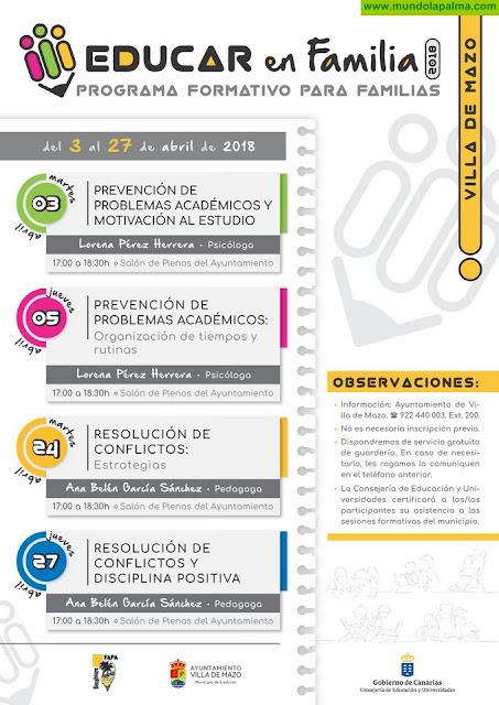 Villa de Mazo presenta una nueva edición del programa formativo Educar en Familia