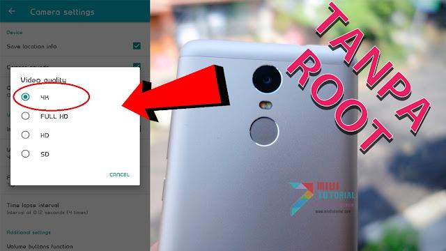 Adakah Cara Rekam Video 4K + Pengaturan Kamera Manual di Xiaomi Redmi Note 3 PRO Tanpa Root Segala?