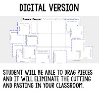 Physical Science Puzzles, Physical Science Digital Puzzles, Physical Science Google Classroom, Vocabulary, Test Prep, Unit Review