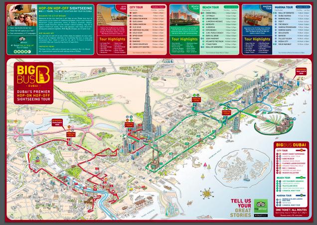 Big Bus Dubai Map