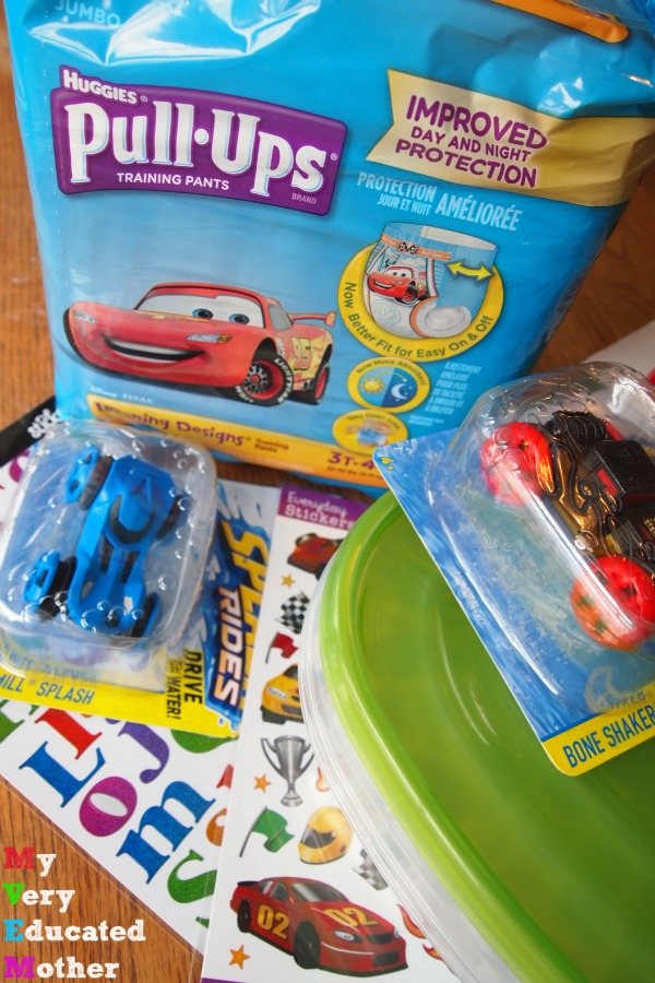 Supplies to create a fun potty time activity for the little racer in your life! #PottyTrainTogether ad #CollectiveBias