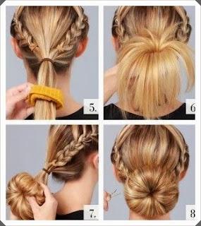 Kendin yap, Saç örgülü topuz modeli yapımı resimli açıklamalı  2
