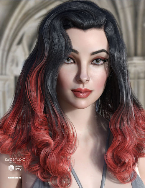 Fane Hair and Character for Genesis 8 Female