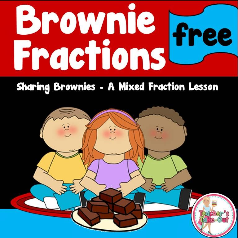 Free Brownie Fraction Lesson