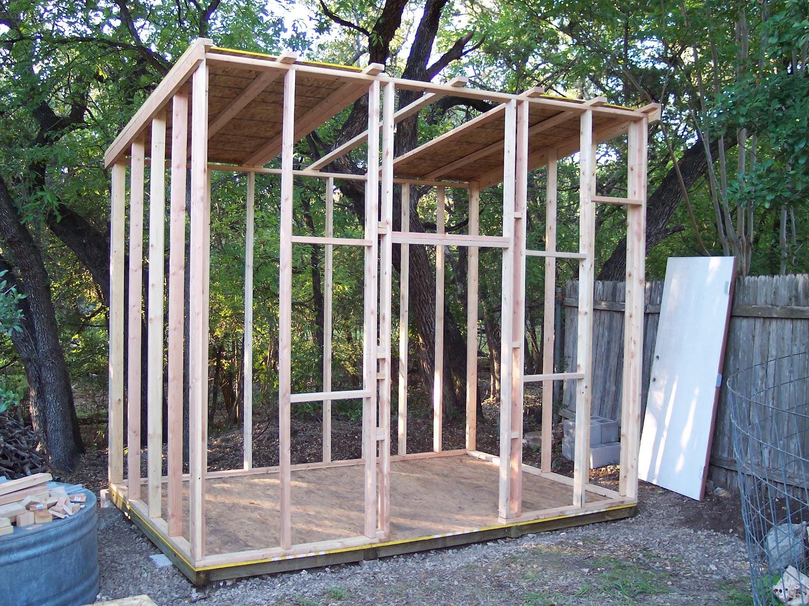 Rock Oak Deer Texas Style Shed Project