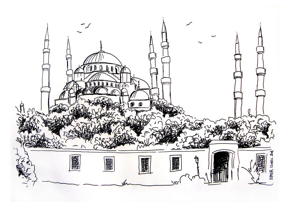 Sultan Ahmet Camii Cizimler Islami Sanat