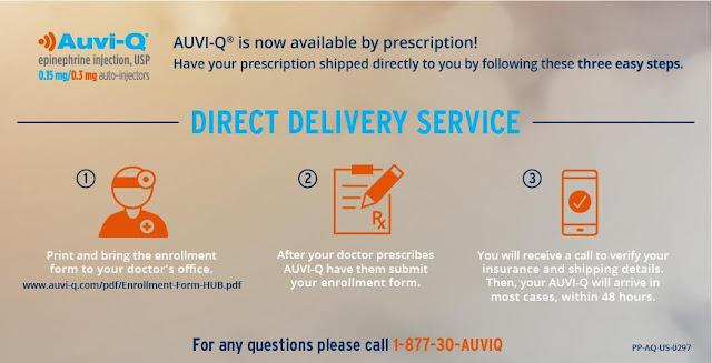 Auvi-Q Direct Delivery Service