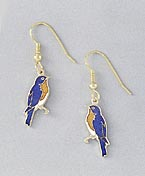 bluebird earrings gold