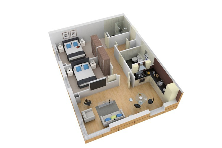 3D Floor Plan  Great On Site Plans 6