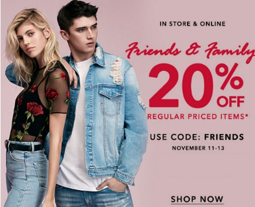 Forever 21 20% Off Friends & Family Event