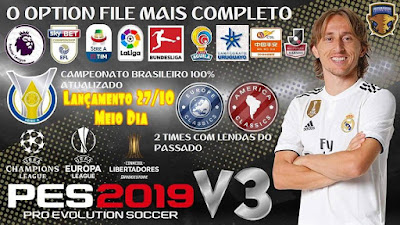 PES 2019 PS4 Option File v3 by Emerson Pereira Season 2018/2019