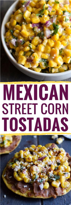 Mexican Street Corn Tostadas #vegetarian #mexican