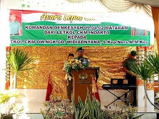 Danrem 162/WB Resmikan Poliklinik Sore Denkesyah Mataram.
