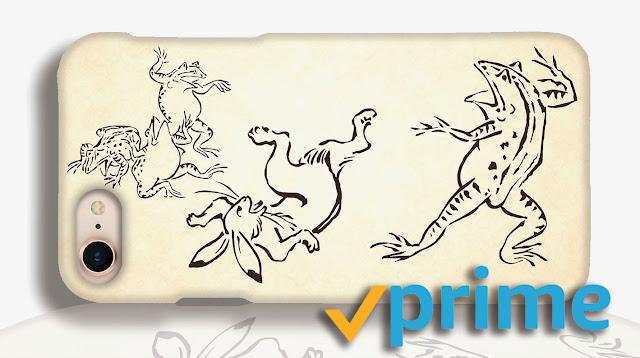 鳥獣戯画 スマホケース  Amazon prime